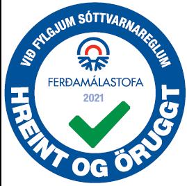 hreint og öruggt logo